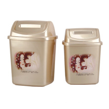 Plastic Creative Flip-on Garbage Bin (A11-2013)
